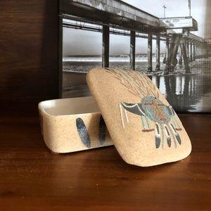Vintage Native American Pottery Jewelry Box